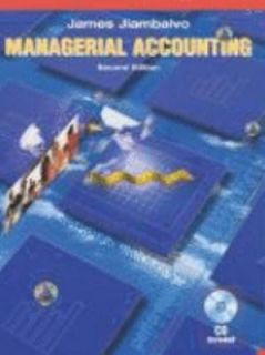 Managerial Accounting by James Jiambalvo 2003, Hardcover, Revised