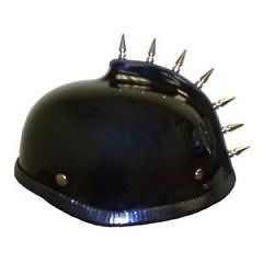 MOHAWK GLADIATOR   Novelty Motorcycle Bike Helmet   Shorty Style
