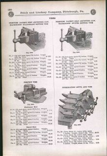 ad Cheney Anvil Vise Combination Store Display Farmers Bench Prentiss