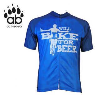 Will Bike for Beer Cycling Jersey Funny, Bike jersey, coors, blue moon