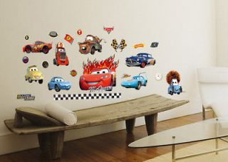 New Disney Cars Wall Sticker Nursery Kids Decals Decor Removable