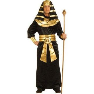 adult pharaoh mens costume egyptian king black gold