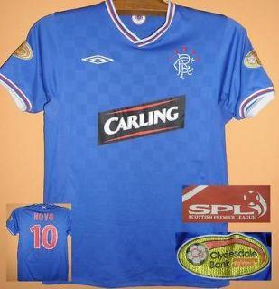 Rangers 09 10 Novo 10 home shirt jersey L The Gers Scottish