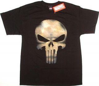 THE PUNISHER Skull Marvel Comics Official Licensed Tee T Shirt Medium
