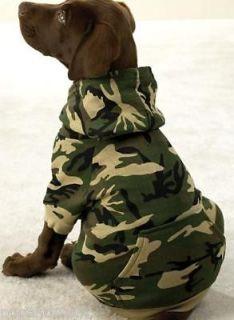 DOG SWEAT SHIRT german shepherd rottweiler CAMO DOG HOODIE clothes