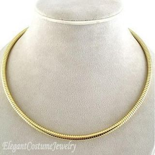 16 Gold Tone 5mm Snake Chain Necklace Chunky Costume Jewelry