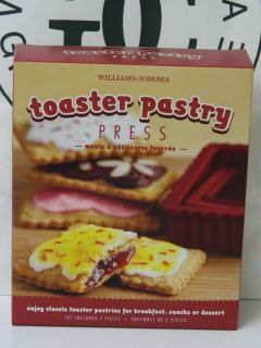 Williams Sonoma Toaster Pastry Press, Set Of 2 NEW IN BOX