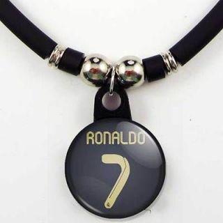 Cristiano Ronaldo #7 Real Madrid 2011 12 Away Jersey Necklace, NEW