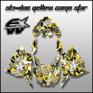 SKI DOO REV, XP, MXZ, Renegade, Summit, Freeride,  8/12 yellow camo