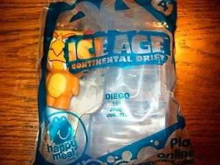 McDonalds Ice Age Continental (4) Diego Figurine Happy Meal Toy NIP