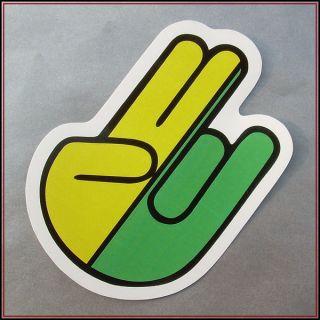 JDM the shocker hand sticker vinyl decal car racing tuning bumper