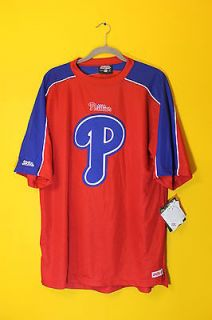New Stitches MLB Philadelphia Phillies red jersey shirt mens M $55