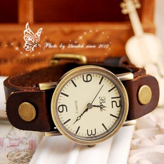 Hotsell vintage style high quality leather strap quartz unisex watch