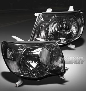 05 11 TOYOTA TACOMA PICKUP TRUCK CRYSTAL HEADLIGHTS SMOKE LENS LEFT