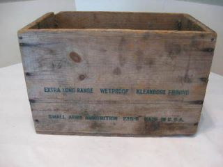 Vintage Remington 12ga Rifled Slug Shells Wooden Ammo Box