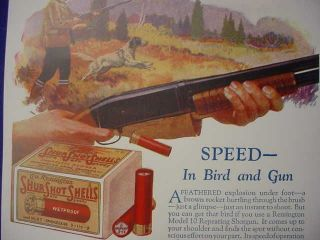 1927 remington model 10 shotgun bird hunting poster  9 25