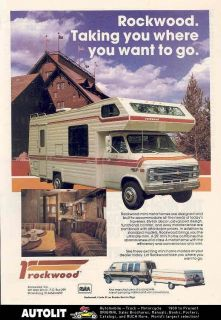 1983 rockwood chevrolet mini motorhome rv ad time left $