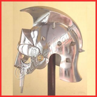 Roman Gladiator Helmet Medieval Greek Movie Stage Drama Prop Dress