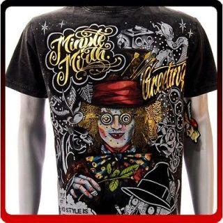 m38b Minute Mirth S M L XL T shirt Tattoo Joker Skull Graffiti Ghost