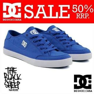 DC SHOE CO DICE ROYAL/WHITE MENS SKATE BOARD TRAINERS/SHOE NEW SALE