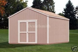 12x16 gable storage shed plans buy it now get it fast time left $ 7 95