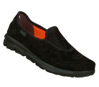 Skechers Womens GO Walk Autumn Black Suede Comfort Walking Shoe 13511