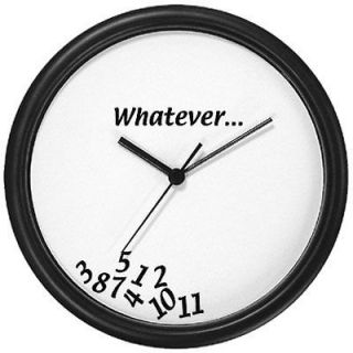 whatever 10 round black frame wall clock