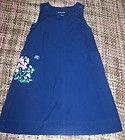 sz M Womens RALPH LAUREN Navy Blue T Shirt Knit Dress Hooded Casual