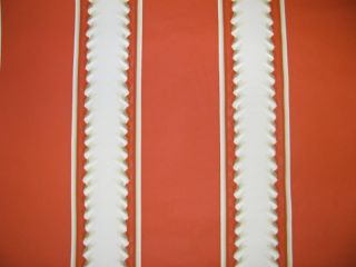 BRUNSCHWIG & FILS BURNT ORANGE LASAGNA WALLPAPER $45 PER TRIPLE ROLL