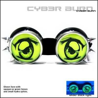 anime eyes burning cyber goth goggles rave man clothing more