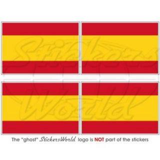 spain spanish civil flag 2 bumper helmet stickers x4 from
