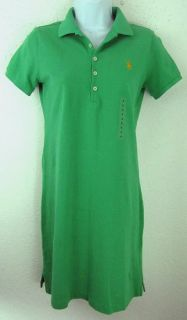 Ralph Lauren Sundress YLW Pony Blu Mesh Polo Shirt Short Dress XS S L
