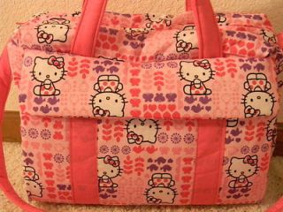 New Hello Kitty handmade Diaper Bag w/change pad by EMIJANE