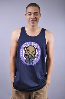 NEW MENS RICH SCAMPI HELLO SNOOPY SNOOP DOG LION 420 NAVY BLUE TANK