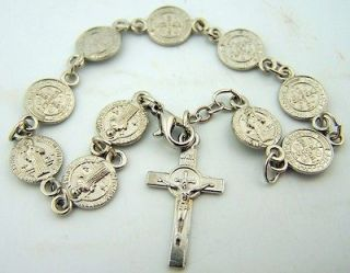 Newly listed Needzo PLC Womens Saint Benedict Silver Plated Rosary