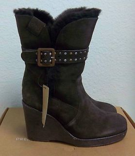 NEW EMU WOMENS HEIGHTON LO SIZE 6 CHOCOLATE BROWN SUEDE BOOTS