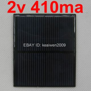 2V 410mA 0.82W mini solar panel small solar panels charge small motor