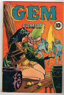 GEM COMICS # 1 a golden age comic 1945 from The Spotlight