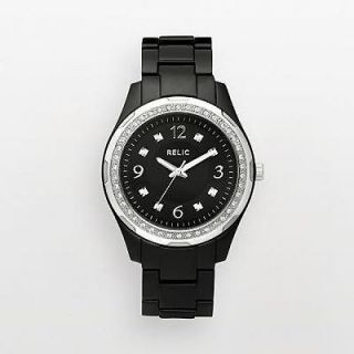 relic by fossil starla resin black womens watch zr11891 one