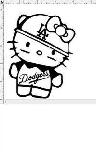 Newly listed Hello Kitty MLB LA Dodgers Shirt Vinyl Decal Sticker Lot