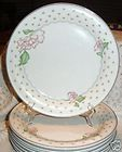 Sango 3793 Rose Chintz Salad Plate Pink Floral Signed