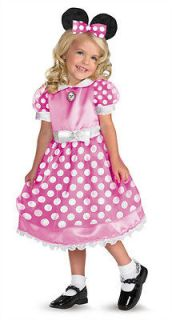 minnie mouse mickey clubhouse girls child costume 3t 4t time