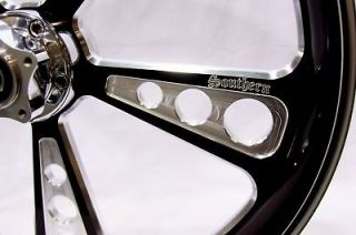 18 black contrast wheel rim flh harley touring bagger time