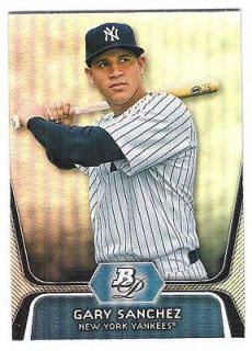2012 bowman platinum gary sanchez rc new york yankees time
