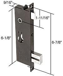 screen and storm door mortise lock insert 6 7 8