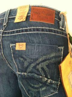 New w/ Tag Womens PREMIUM Big Star Jeans Liv Boot Cut 6WLIVDI 26 27