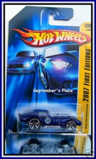 2007 hot wheels 006 shelby cobra daytona coupe blue time