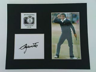 Limited Edition Seve Ballesteros Golf Signed Mount Display AUTOGRAPH