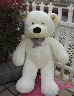 "Stuffed Plush Teddy Bear Toy 47"" Animal Doll White Bears Kid Gift"