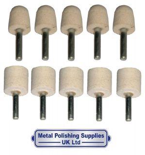 PolishKing 10pc Conical & Cylinder Metal Polishing Felt Kit PKCS 0001